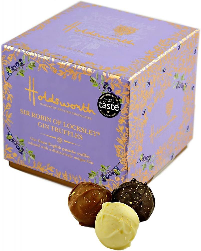 Holdsworth Chocolates Sir Robin of Locksley Gin Cube 100g
