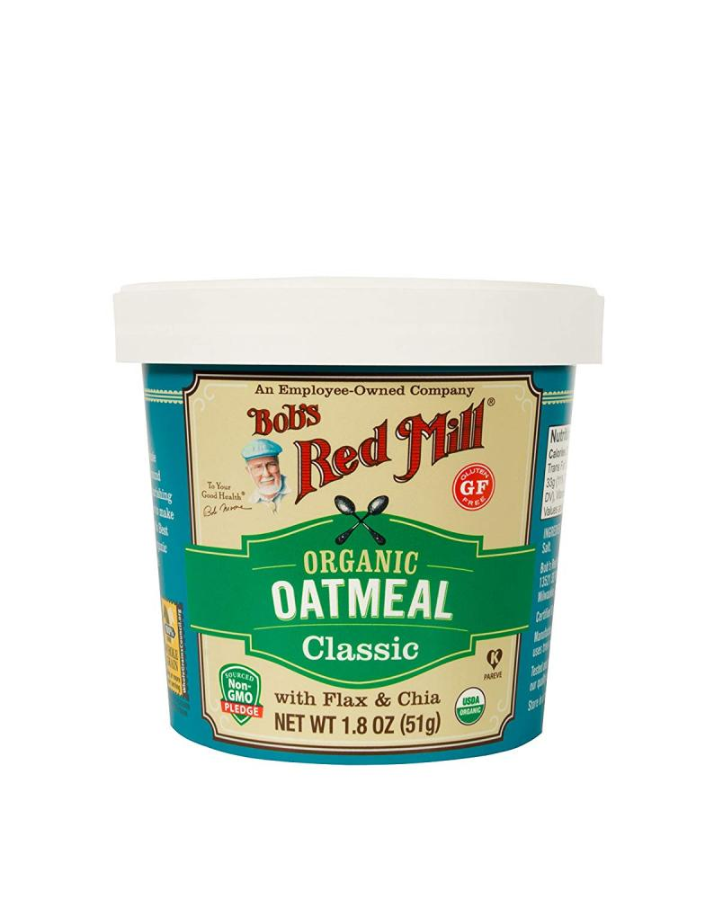 Bobs Red Mill Organic Classic Oatmeal Cup 51g