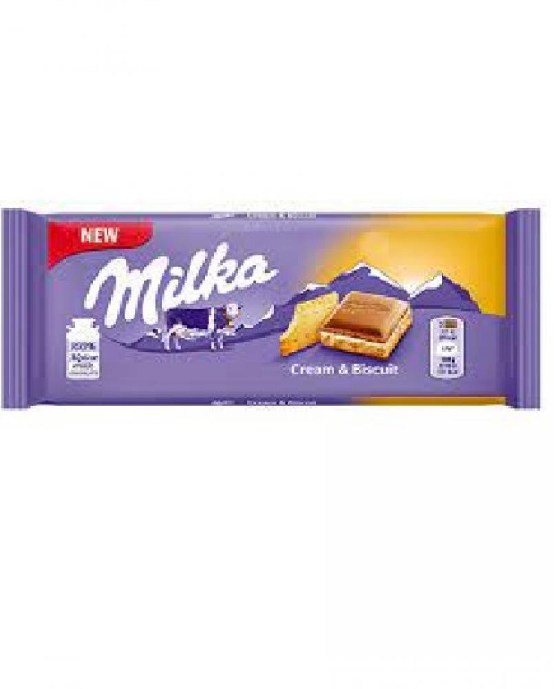 Milka Cream and Biscuit 100g