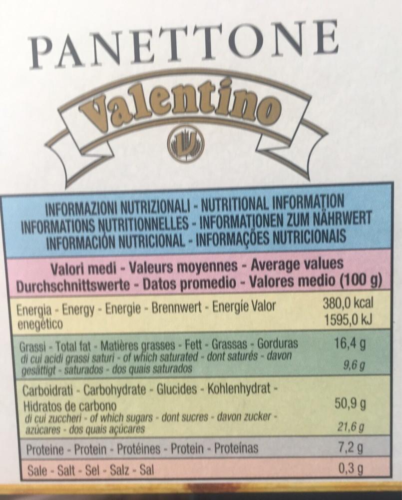 Valentino Panettone Cake 1 kg