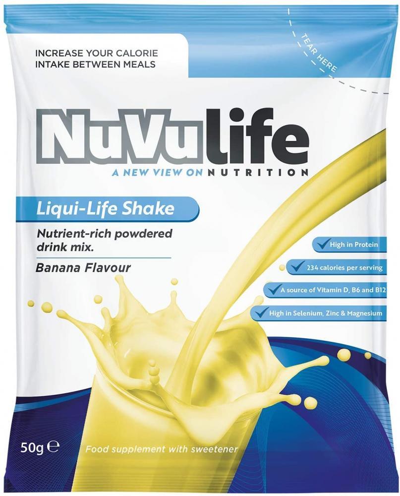NuVu Life Nutrient Rich Meal Shake Sachet (Banana) 50 g
