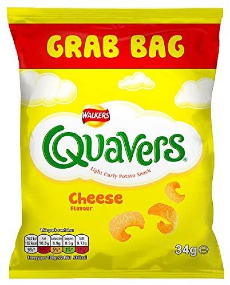 Walkers Quavers Cheese Flavour Grab Bag 34g