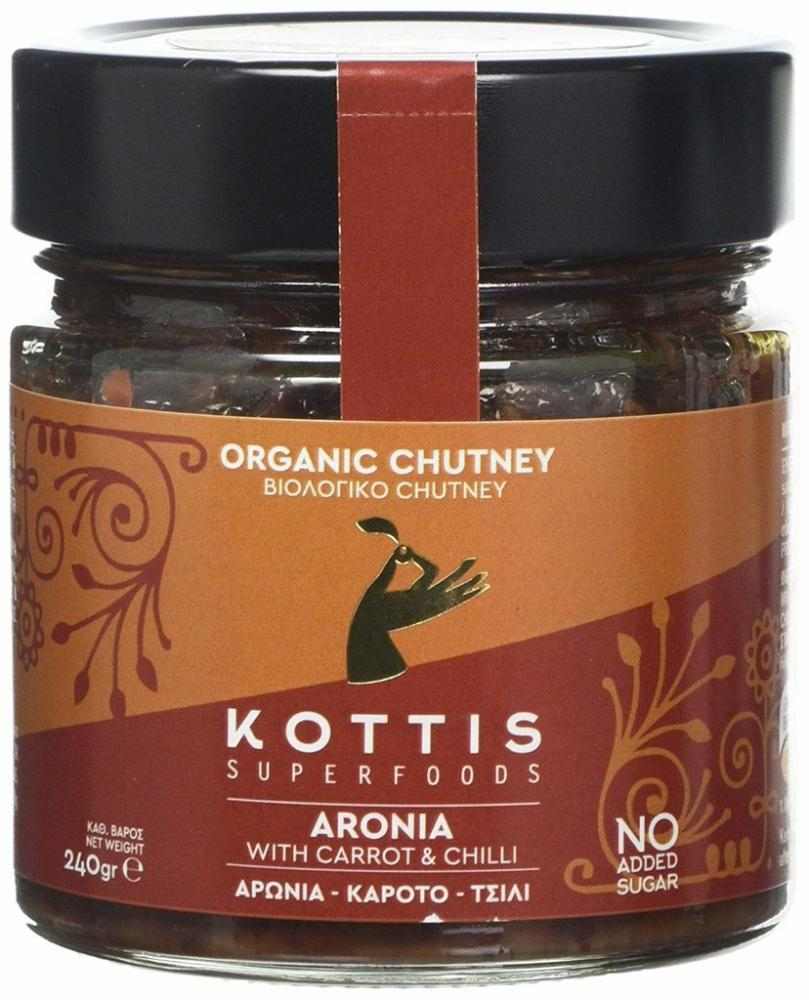 Kottis Organic Chutney Aronia with Carrot and Chilli 240g