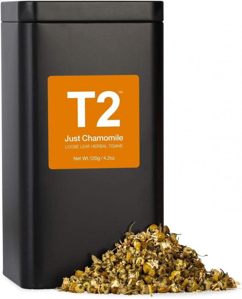T2 Tea Just Chamomile Tea Loose Leaf Herbal Tea in Tea Caddy 120 g