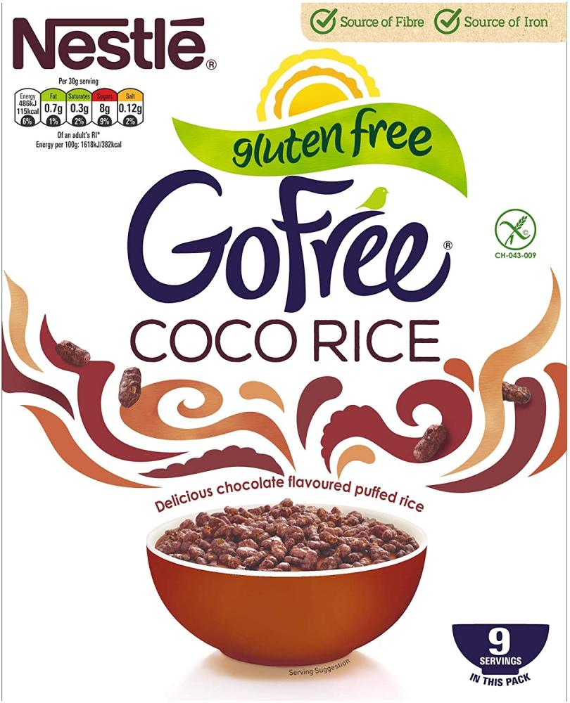 Nestle GoFree Coco Rice Gluten Free Cereal 295 g
