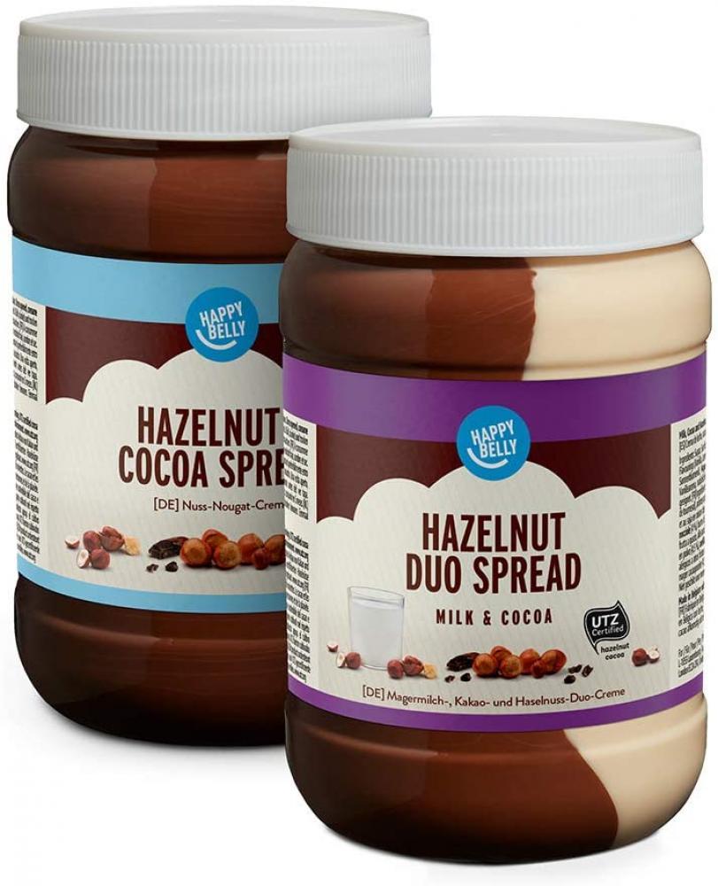 Happy Belly Spread Assortment Duo Milk and Cocoa-Hazelnut 2x800g