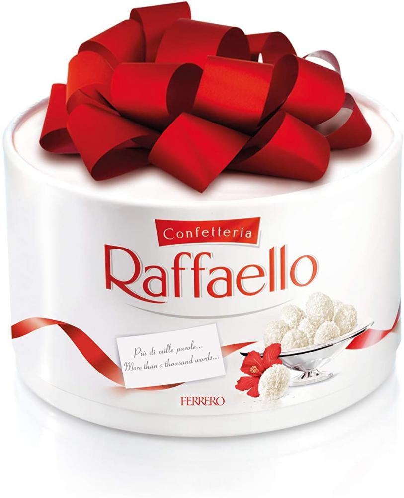 SUMMER SALE  Ferrero Raffaello Gift Box with Bow 200g Damaged Box