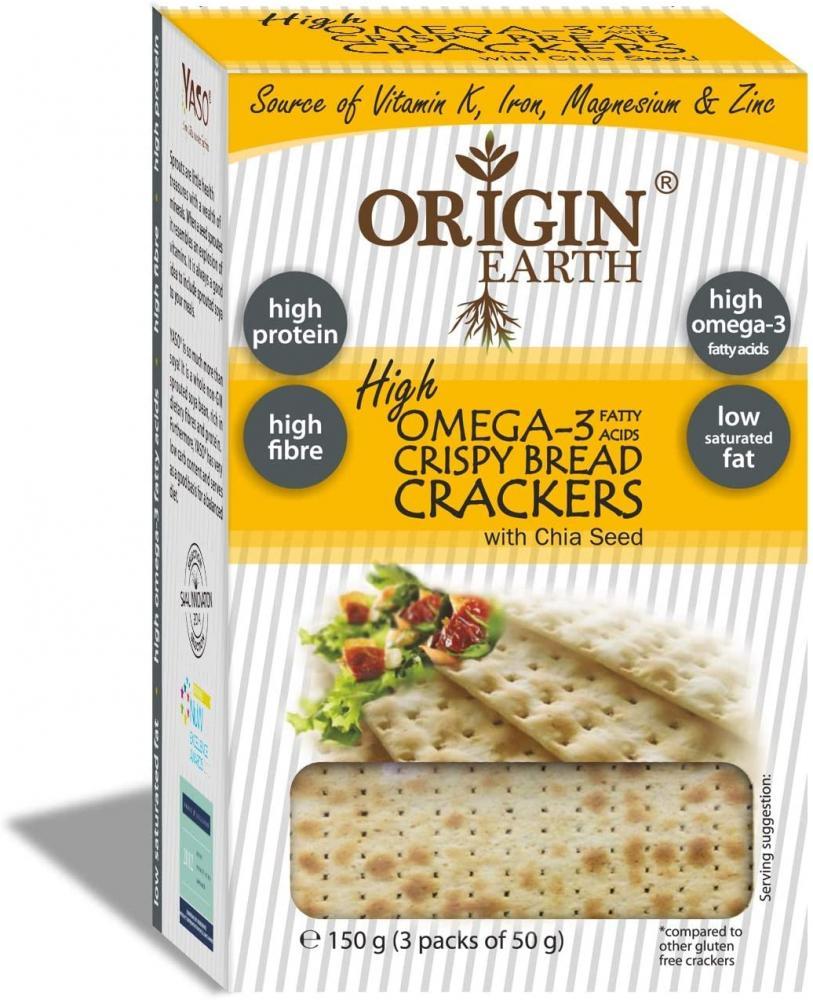 Origin Earth Crisp Bread Crackers with Omega 3 150g