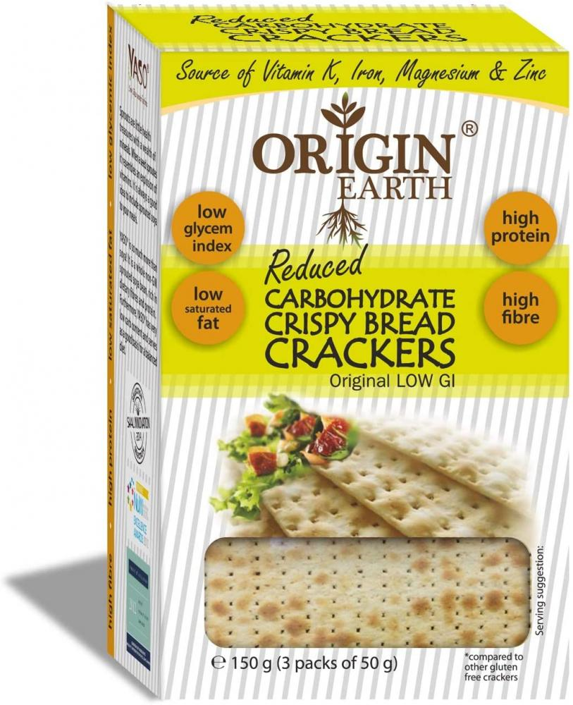 Origin Earth Reduced Carbs Crisp Bread Crackers 150g