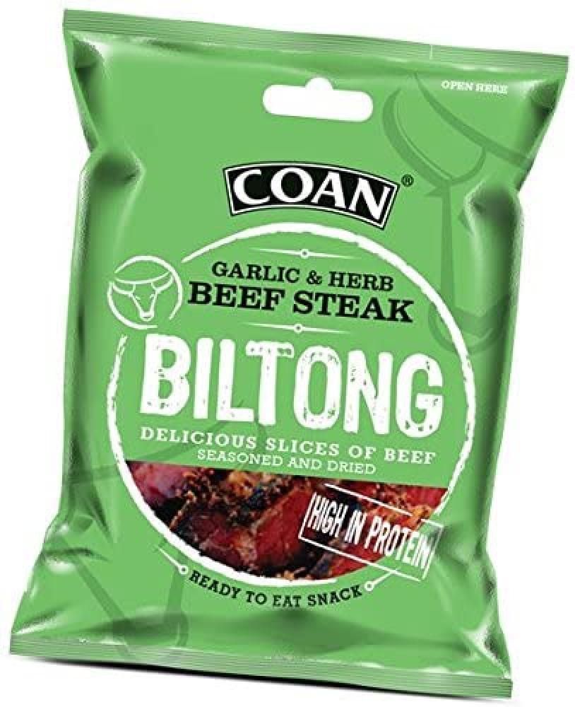 Coan Garlic and Herb Beef Steak Biltong 35g