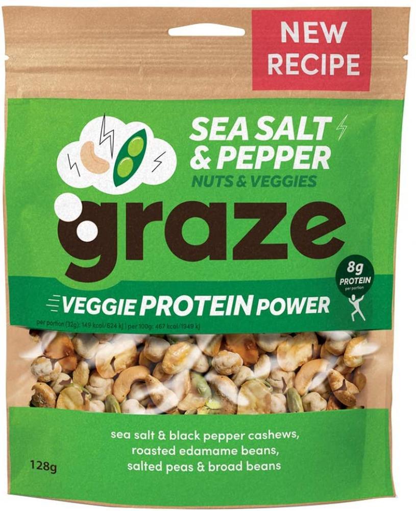 Graze Sea Salt and Pepper Veggie Protein Power 128 g