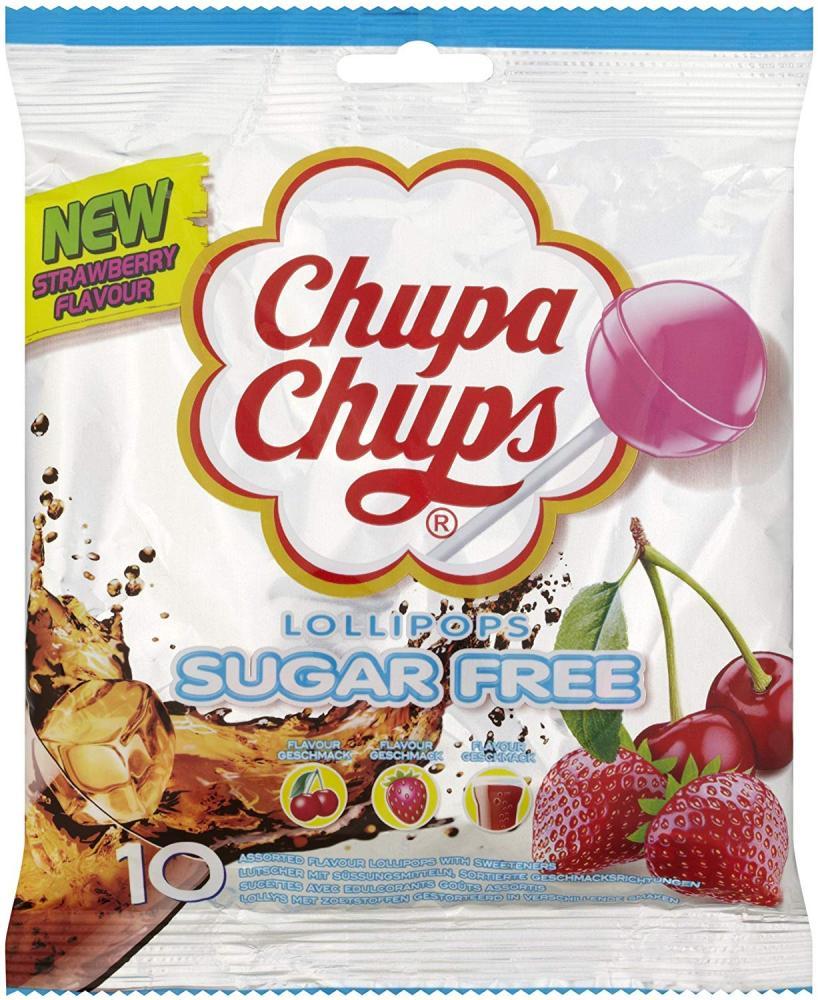 Chupa Chups Sugar Free Lollipops x10