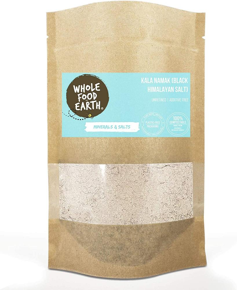 Wholefood Earth Fine Kala Namak Himalayan Black Salt 500g