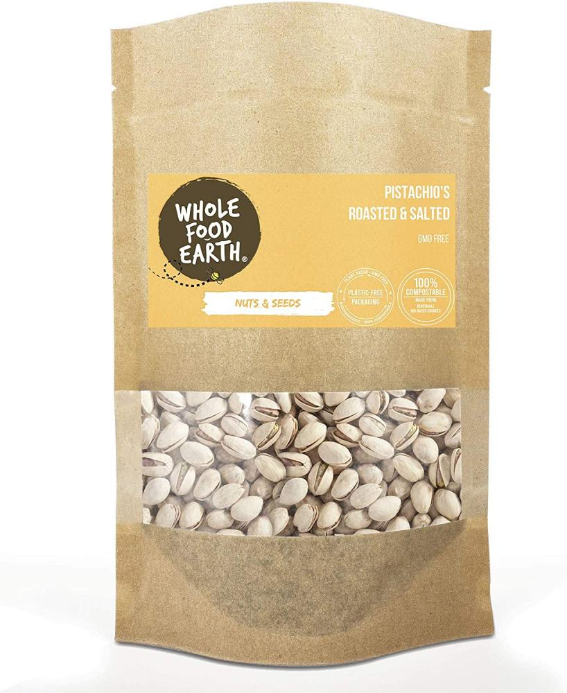 Wholefood Earth Roasted and Salted Pistachios 250 g