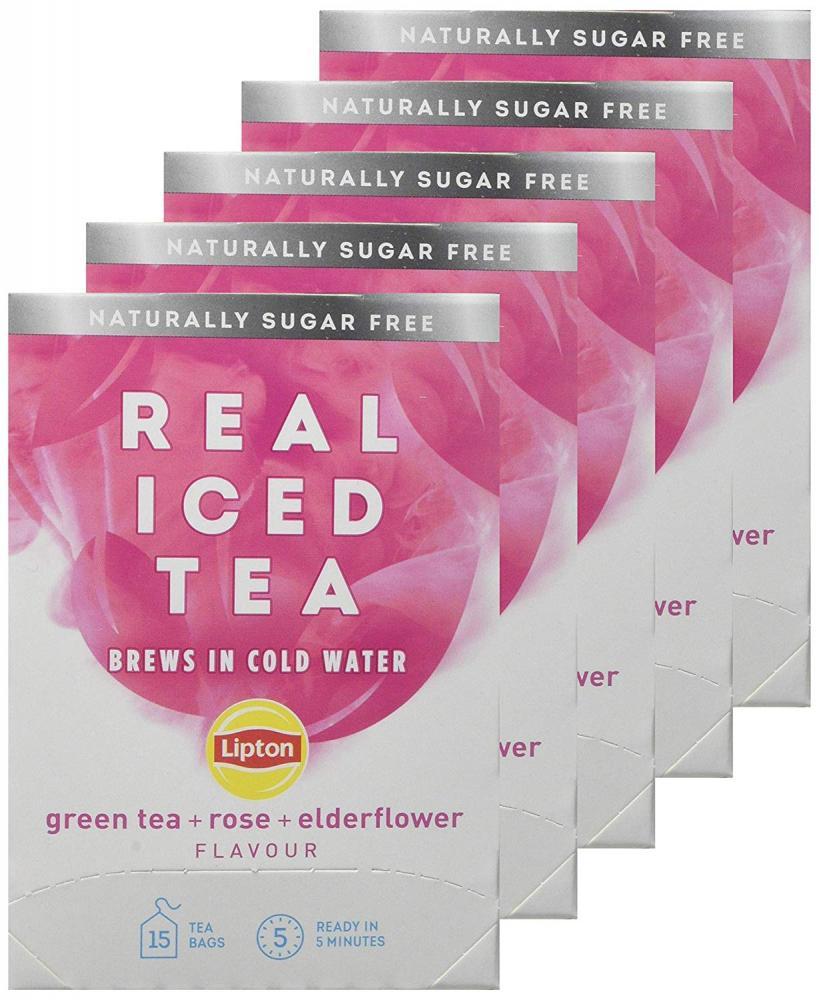 Lipton Real Rose and Elderflower Green Iced Tea Bags 33 g