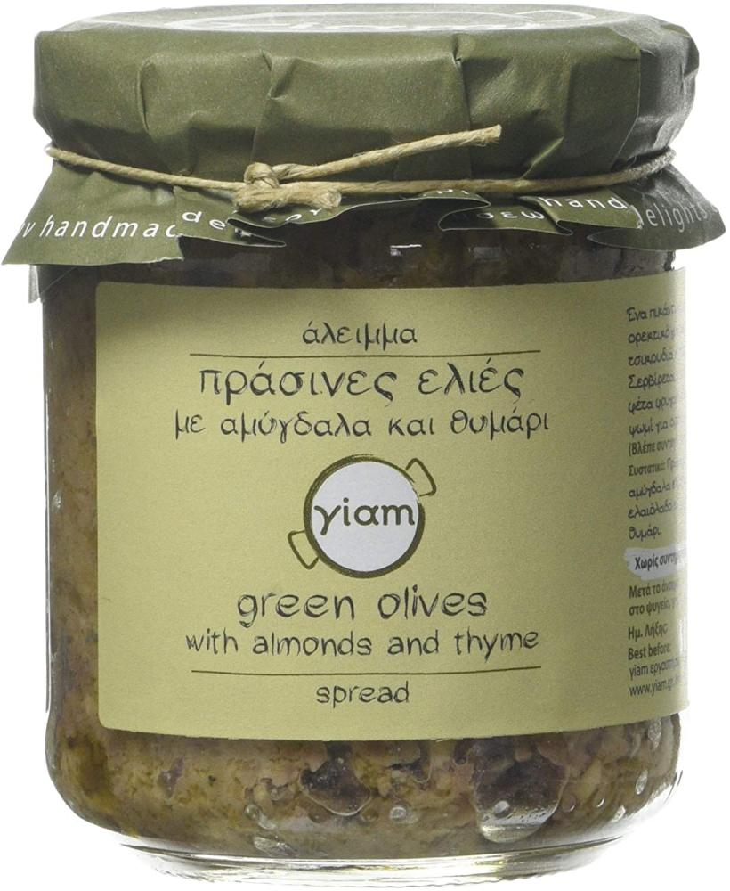 Yiam Green Olive Spread with Almonds and Thyme 200 g