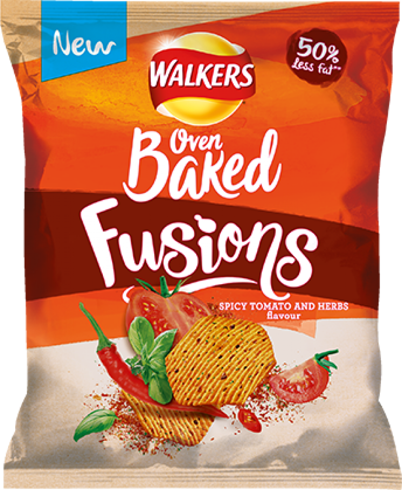 Walkers Oven Baked Fusions Spicy Tomato and Herbs 35g
