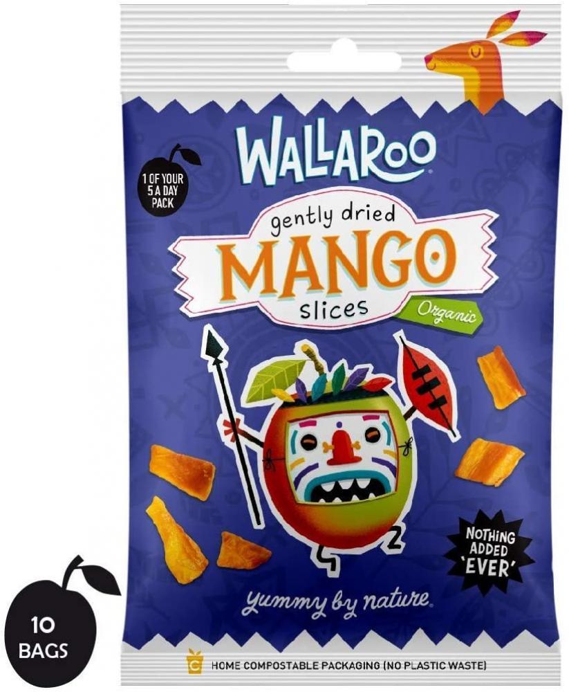 Wallaroo Certified Organic Gently Dried Mango Slices 30 g