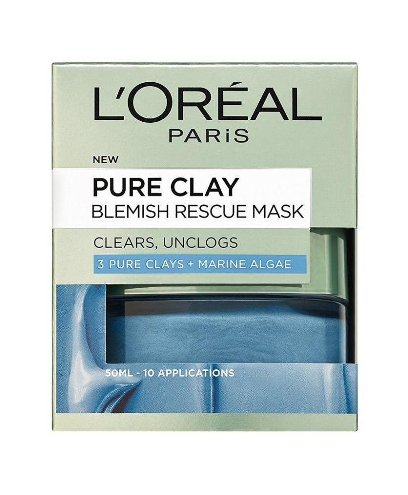 Loreal Paris 3 Pure Clays and Marine Algae Blemish Rescue Mask 50 ml
