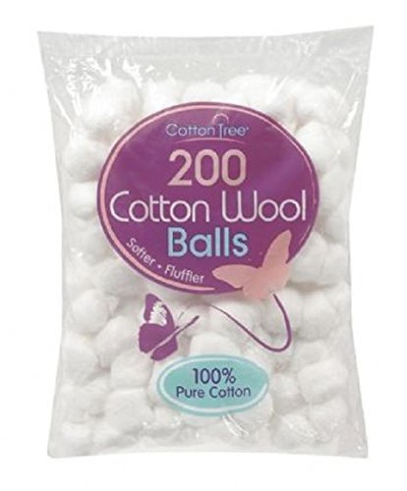 Cotton Tree Cotton Wool Balls Pack of 200