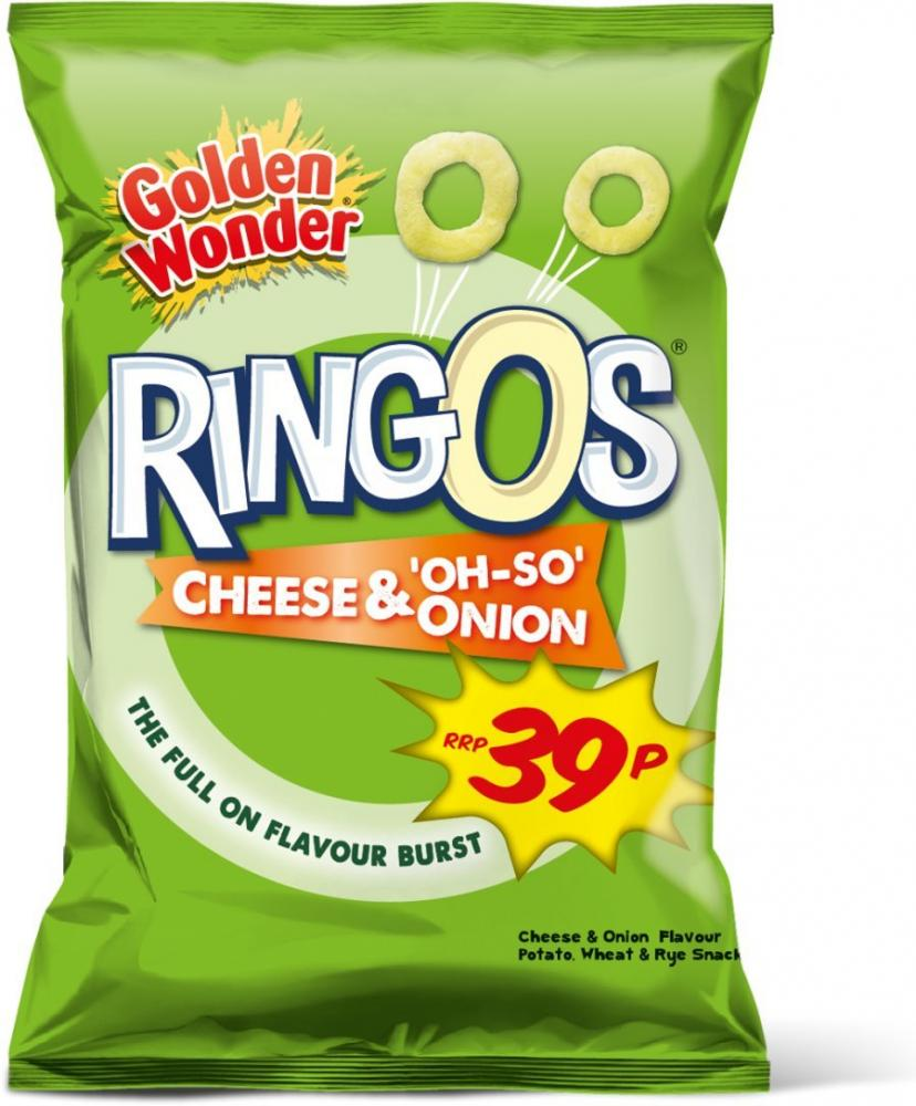 Golden Wonder Ringos Cheese and Onion 20g