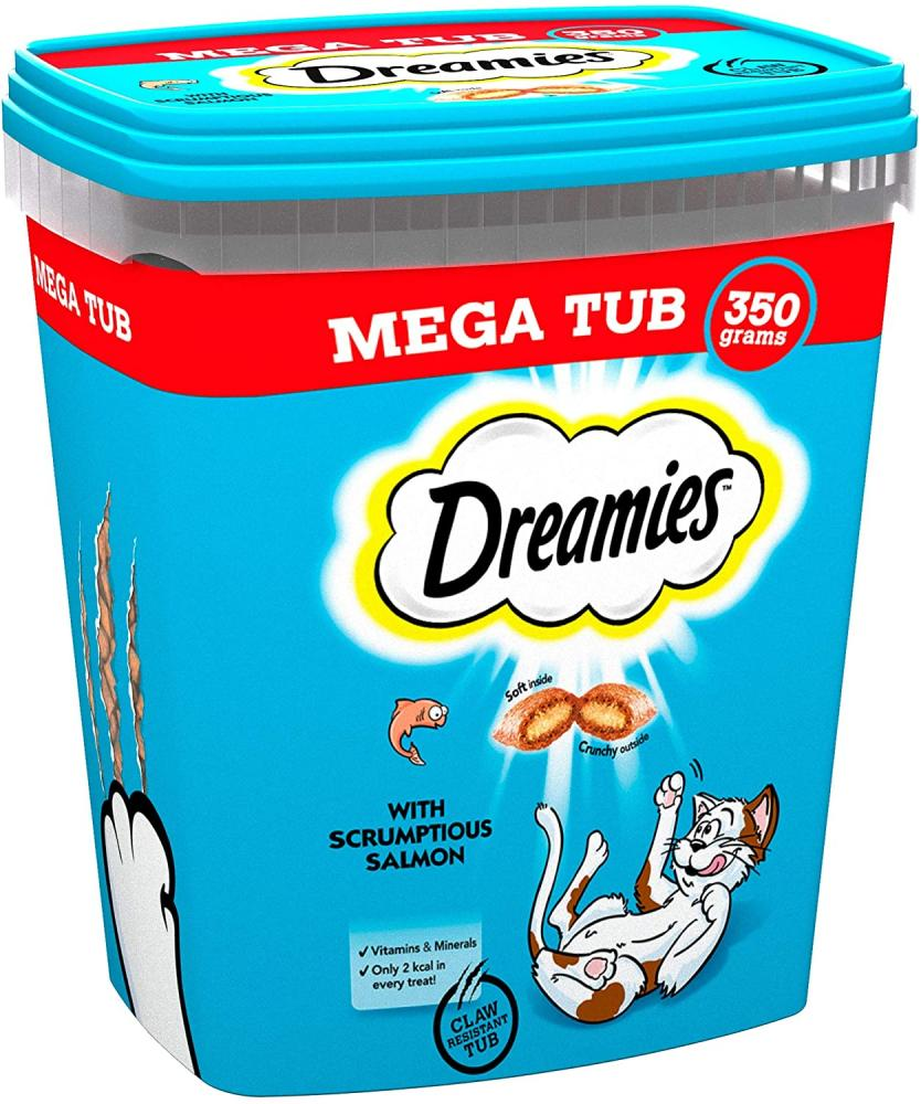 Dreamies Cat Treats Tasty Snacks with Delicious Salmon 350 g