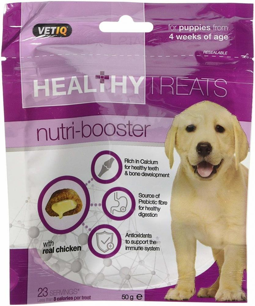 VetIQ Nutri Booster Healthy Treats with Calcium and Antioxidants for Puppies 50 g
