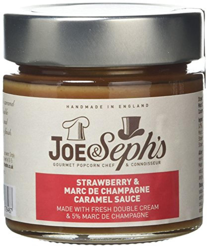 Joe and Sephs Strawberry And Marc De Champagne Caramel Sauce 230g