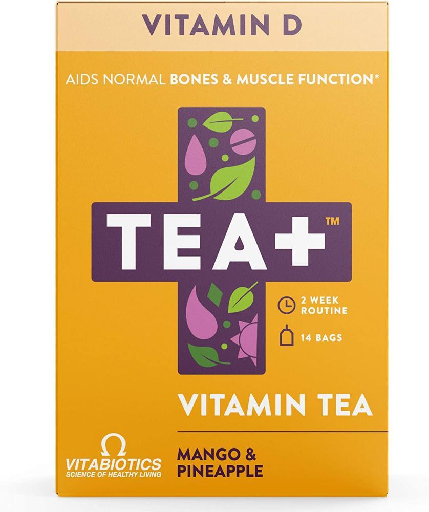 Vitabiotics Tea Plus Vitamin D Supplement Infused Green Tea 14 Tea Bags