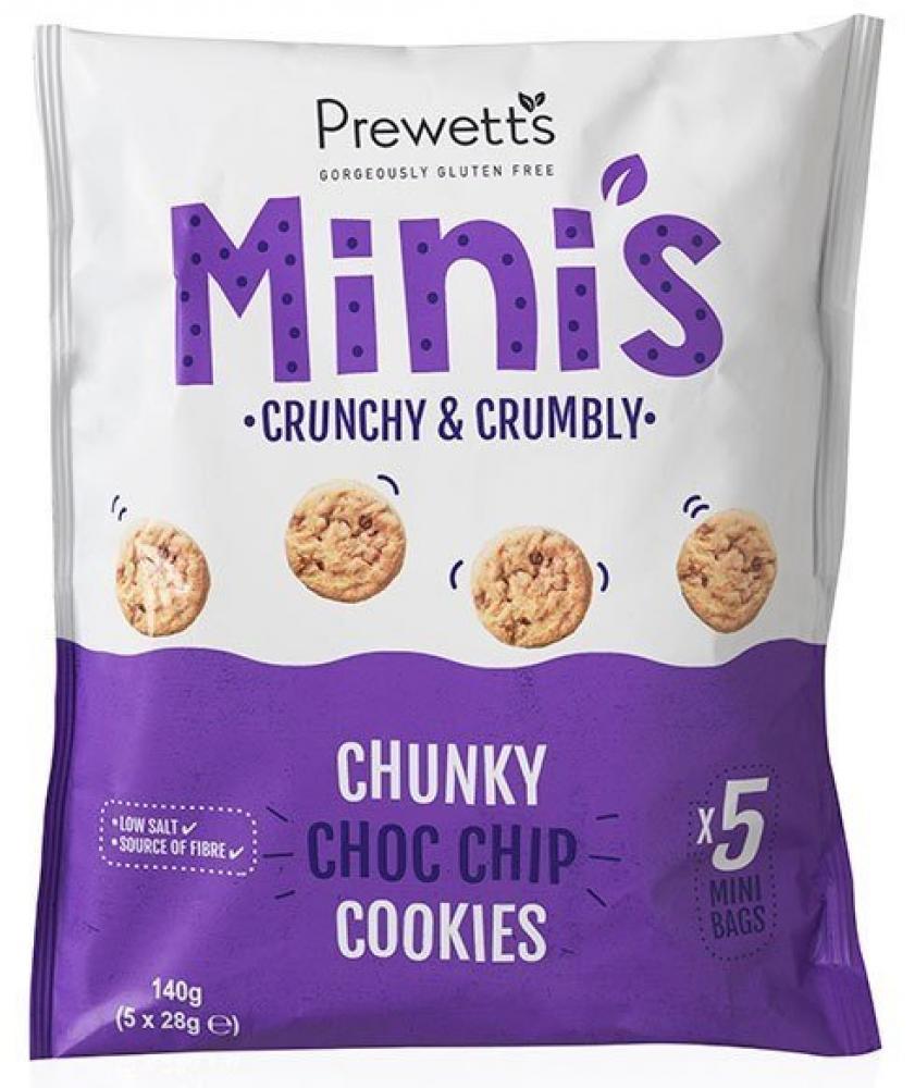 Prewetts Minis Chunky Choc Chip Cookies 28g x 5