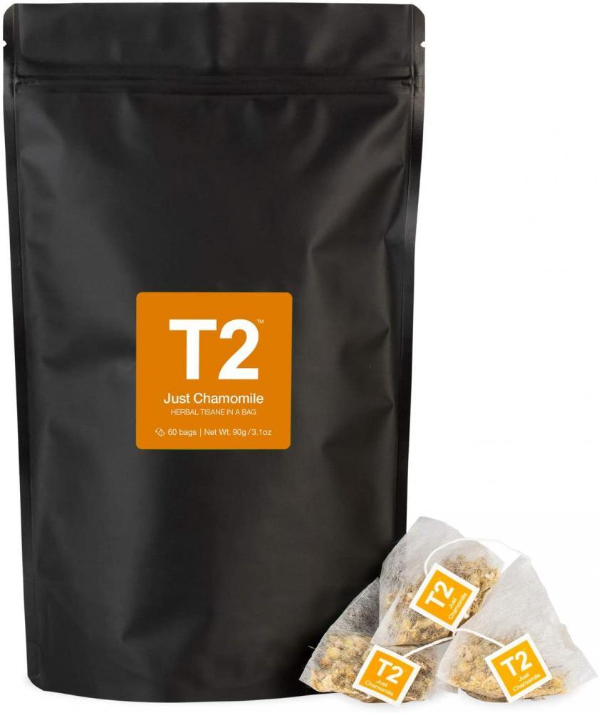 T2 Tea Just Chamomile Herbal Tea 60 Teabags in Resealable Bag