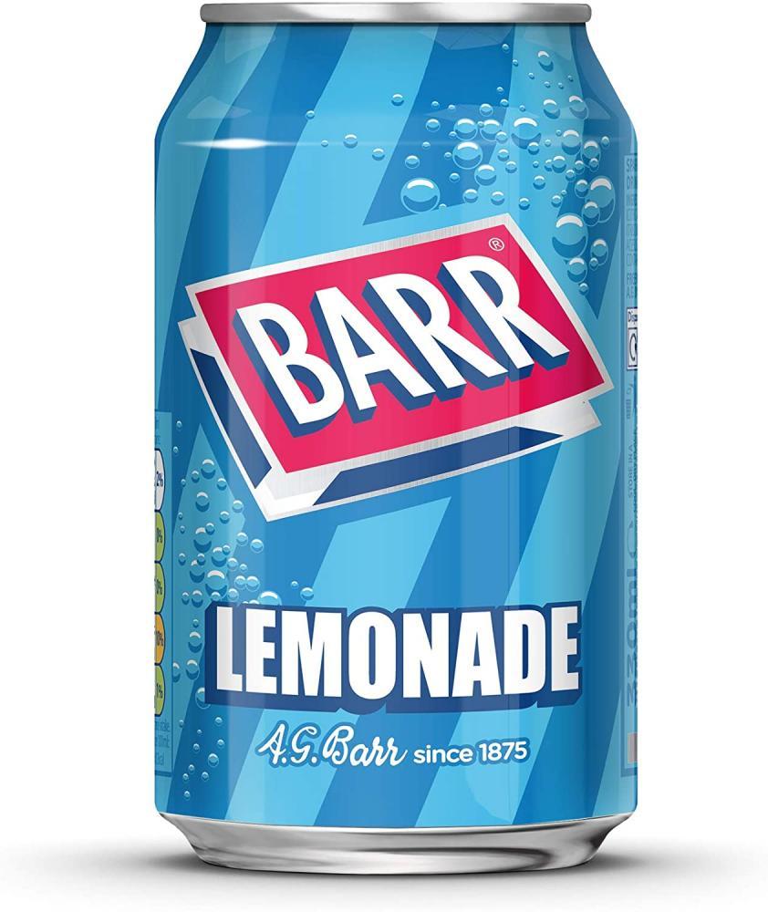 Barr Lemonade Fizzy Drink Can 330ml