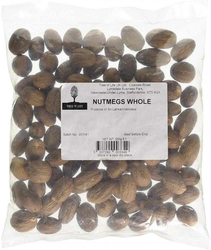 Tree Of Life Whole Nutmeg 500g