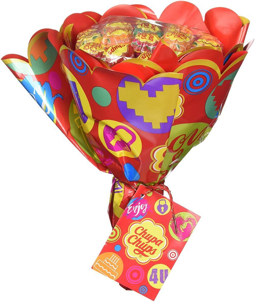 Chupa Chups Lollipop Flower Bouquet 19 Lollipops