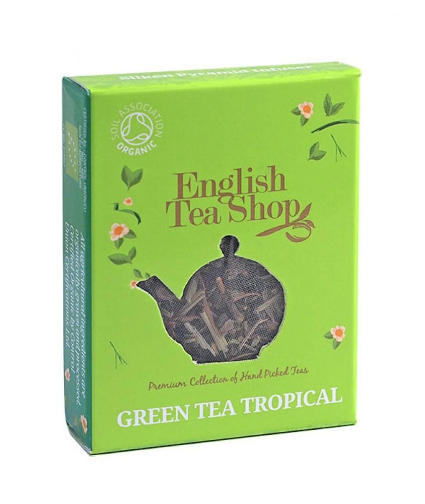 English Tea Shop Organic Green Tea Tropical One Piramide Tea Bag 2g