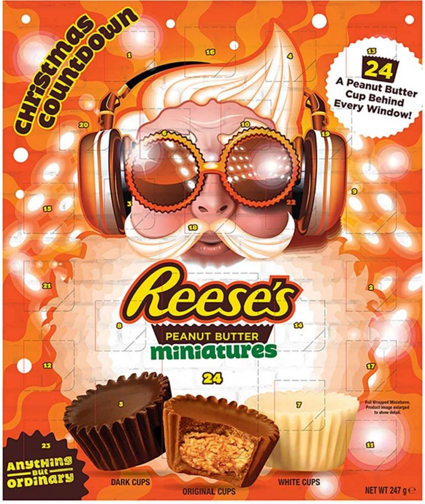 Reeses Peanut Butter Cups Advent Calendar Milk Chocolate Flavour Mini Cups 247 g