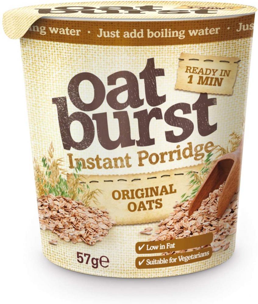 CASE PRICE  Oat Burst Instant Porridge Original Oats 8 x 57g