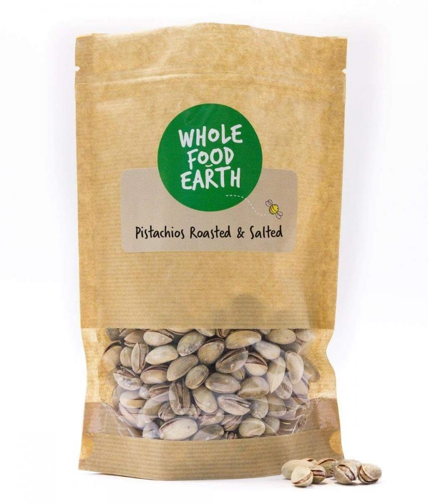 Whole Food Earth Roasted and Salted Pistachios 100g