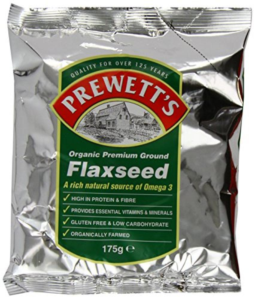 Prewetts Organic Premium Ground Flaxseed 175 g