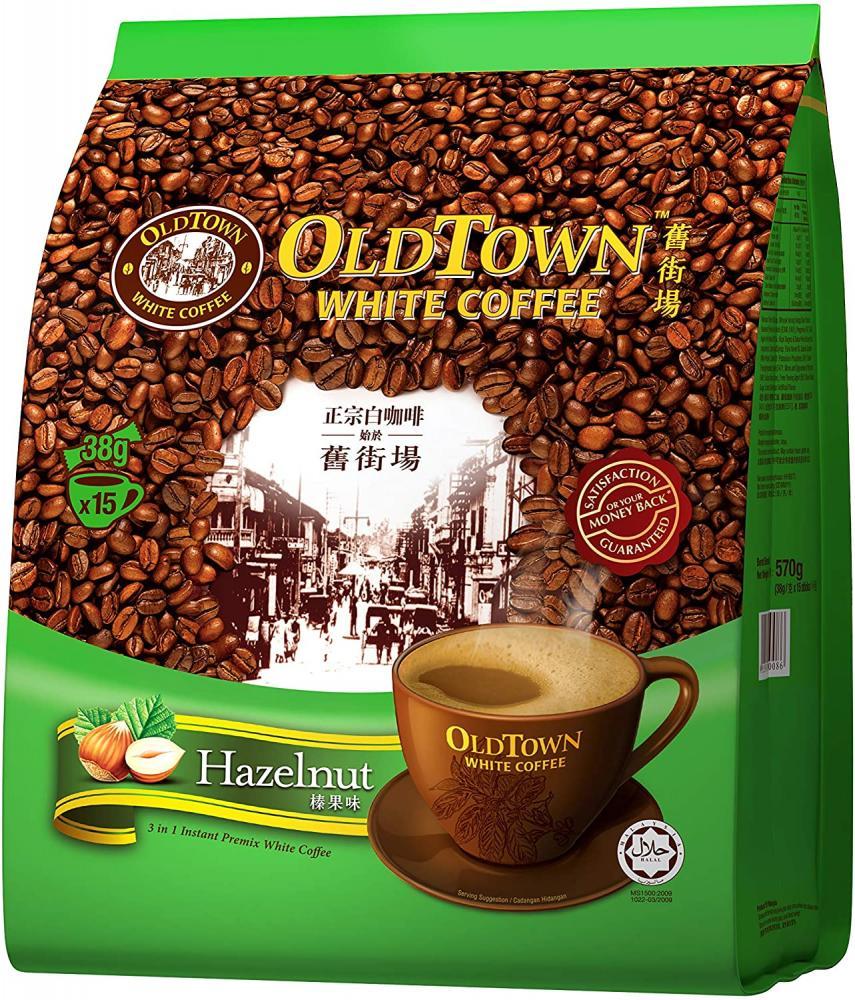 Old Town White Coffee 3 in 1 Hazelnut 15 Sachets x 38g