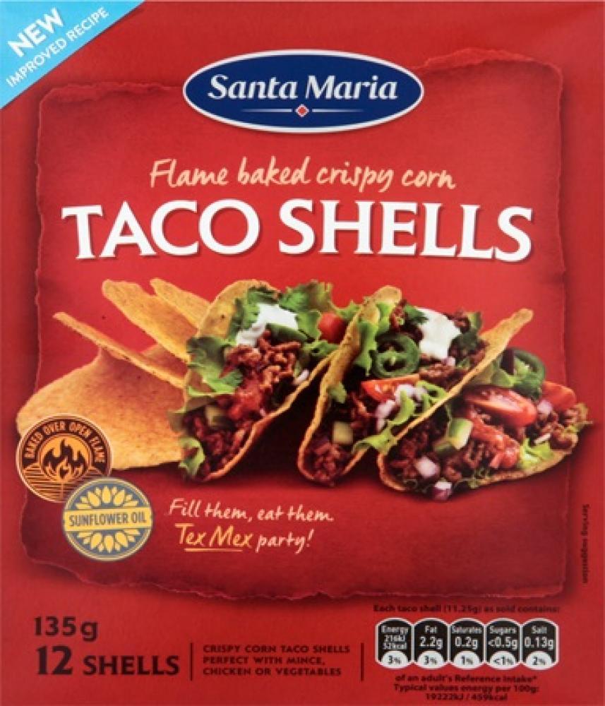 Santa Maria Taco Shells x12