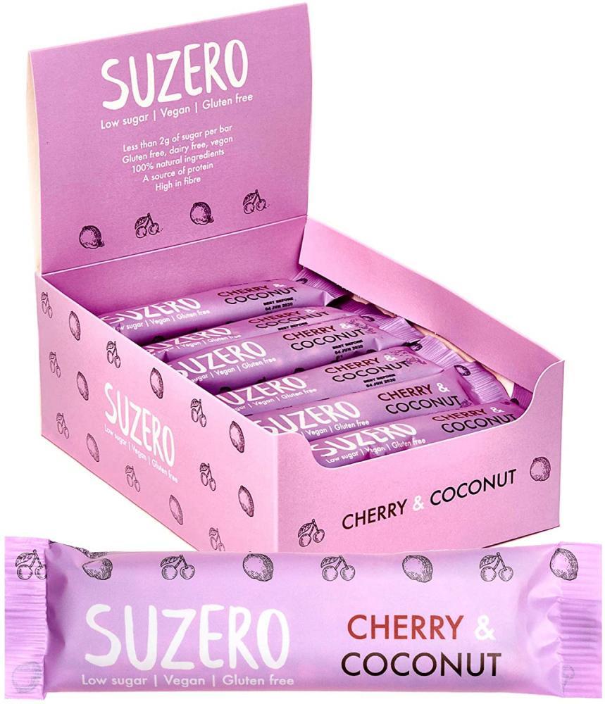 Suzero Low Sugar Snack Bars Cherry And Coconut 35g