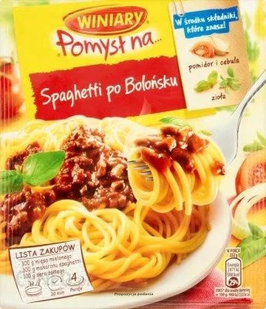 Winiary Recipe Mix Spaghetti Bolognese 44g