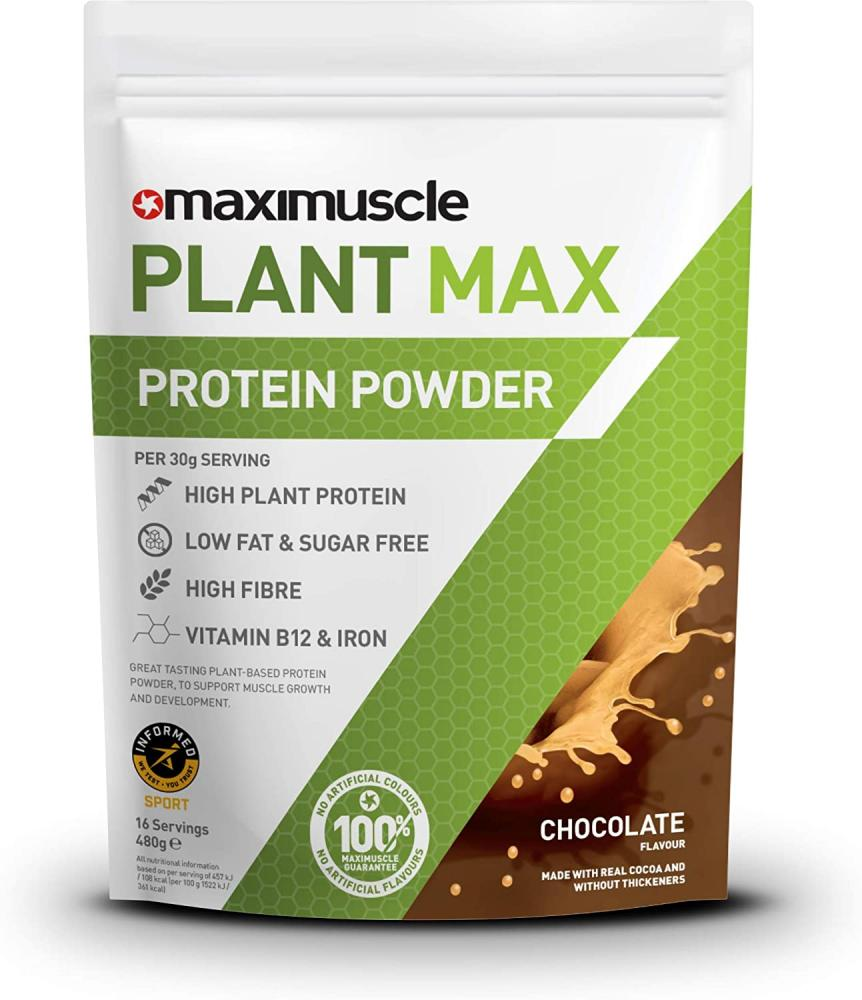 Maximuscle Plant Max Protein Powder Chocolate Flavour 480g