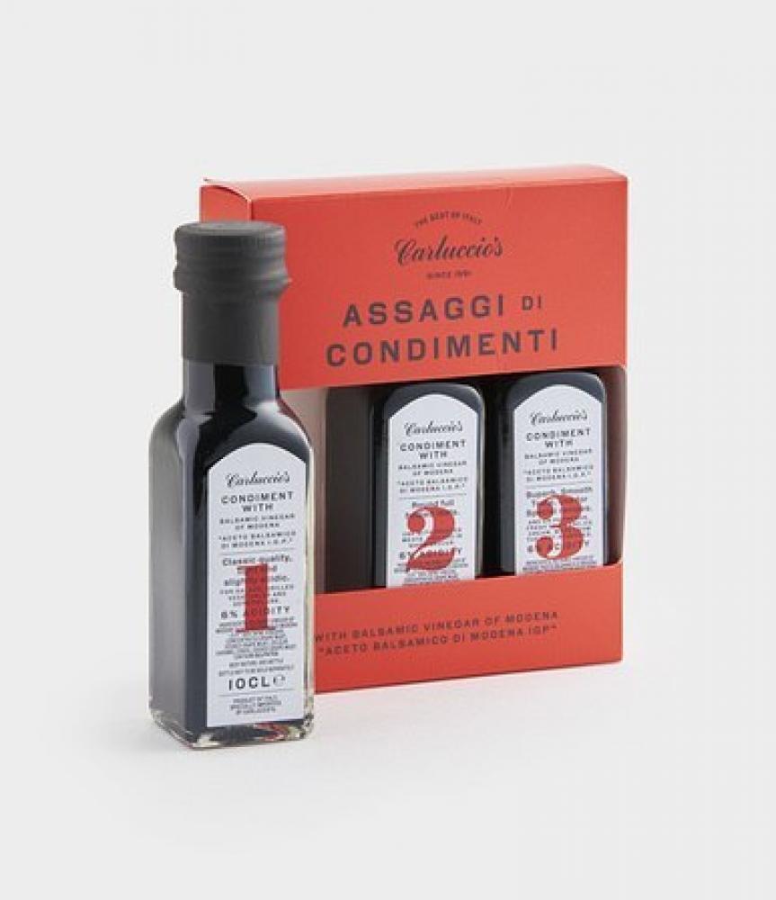 Carluccios Trio Of Balsamic Vinegar 3 x 100ml