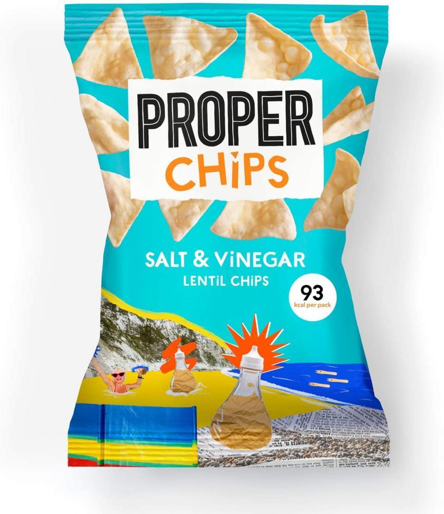 Proper Chips Lentil Chips Flavoured with Salt And Vinegar 20g
