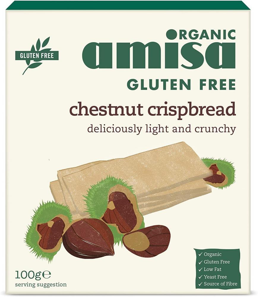 Amisa Organic Gluten Free Chestnut Crispbread 100 g