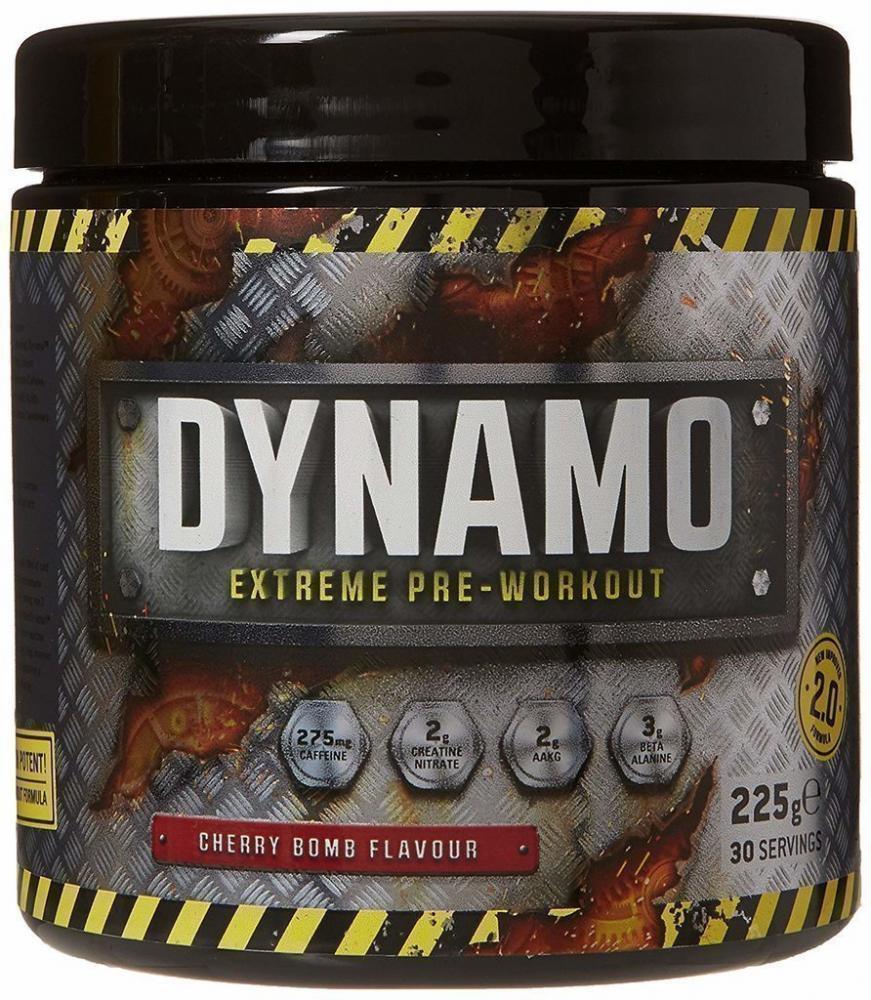 Protein Dynamix Dynamo Extreme Pre-Workout Formula Cherry Bomb Flavour 225g