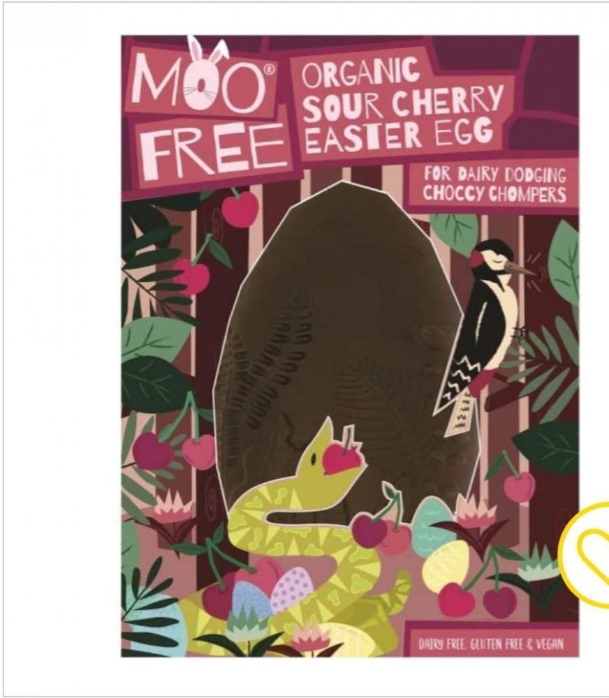 Moo Free Milk Chocolate Cherry Artisan Easter Egg 140g