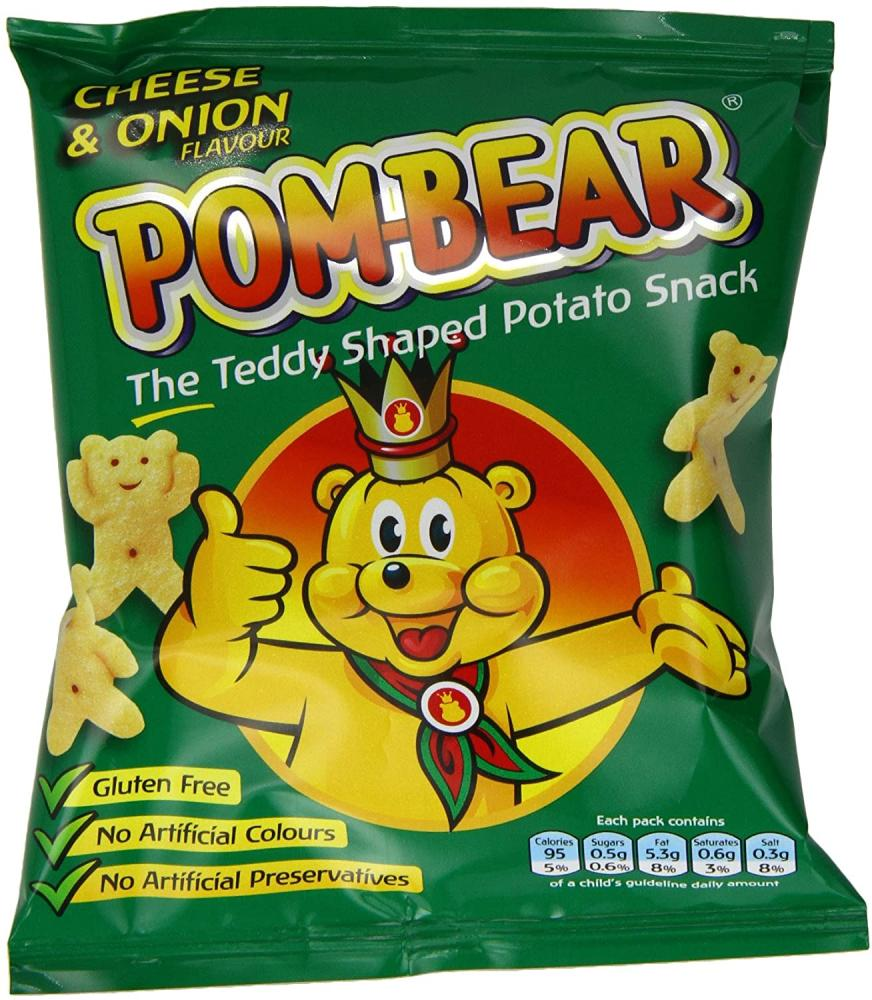 Pom Bear Cheese and Onion 19g